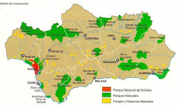 Carte Geographique Andalousie.D Al Andalus A L Europe